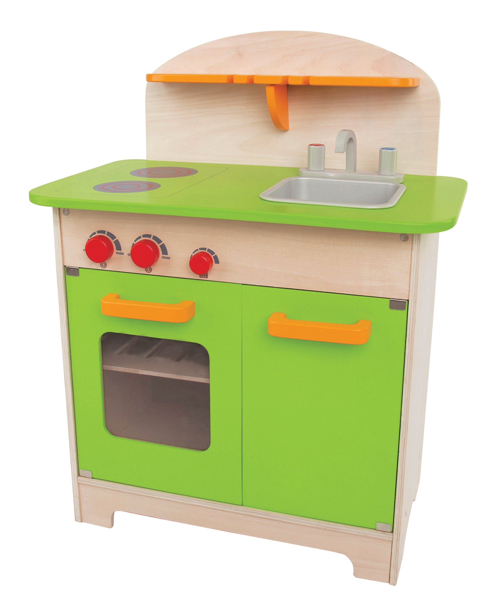 hape playfully delicious gourmet kitchen in green play set