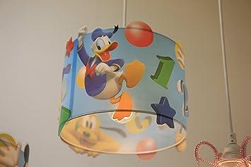 Deckenlampe Kinderzimmer Bunt Rot Gelb Gr/ün Blau Schirm M/ädchen Deckenleuchte Pendelleuchte Kinder Lampe Kn/öpfe