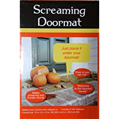 Pressure Sensitive SCREAMING DOORMAT Halloween Decoration BATTERY OPERATED (Just Place It Under Your Doormat)
