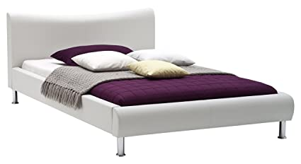 sette notti  Polsterbett Bett 120x200 Weiß, Kunstleder Bett Liegefläche 120x200 cm, River Art Nr. 502-10-20000
