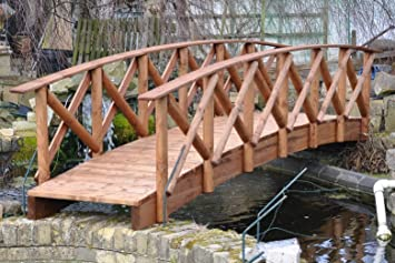 Rustic Low Rail Garden Bridge (4ft Rustic LR)