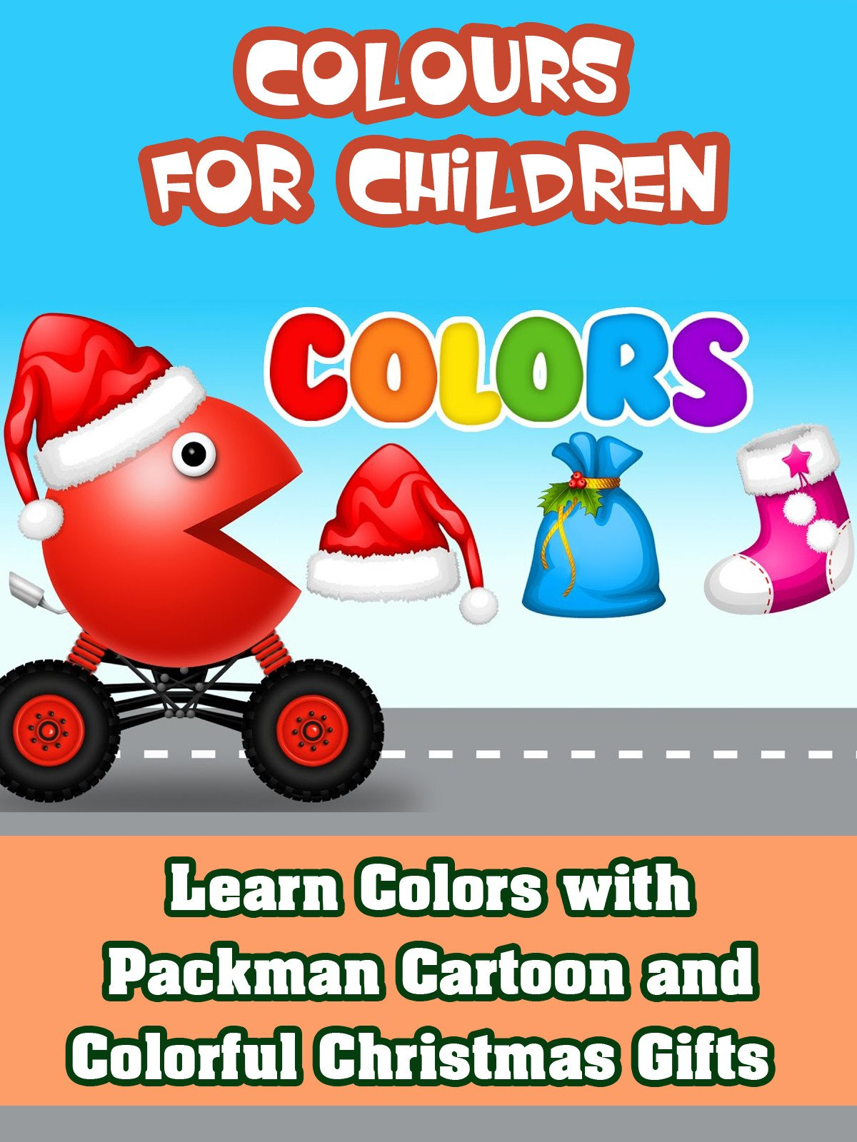 Learn Colors with Packman Cartoon and Colorful Christmas Gifts