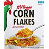 Corn Flakes Kellogg's, Breakfast Cereal, Fat-Free, Bulk Size, 216 oz (Pack of 6, 36 oz Boxes) (Tamaño: 36 Ounce)