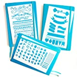 BULLET JOURNAL STENCIL SET - Banners, Dividers, & Icons | Fits Leuchtturm & Moleskine A5 Notebooks | Best used with Huhuhero Fineliners & Sakura Micron Pens … (Tamaño: Starter Set)