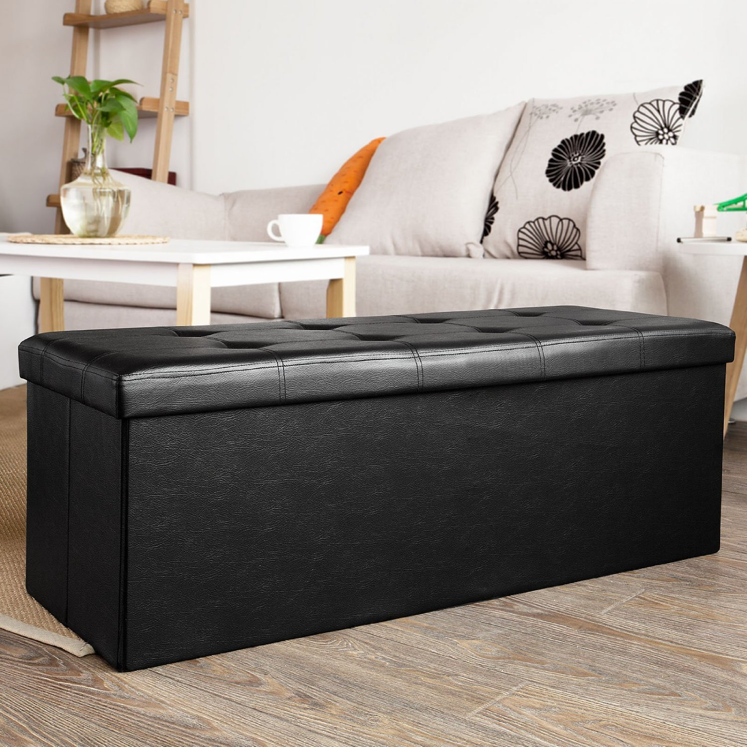 #AD5B1E SoBuy Storage Ottoman Folding Storage Bench With Seat Cushion FSS16 EL  with 1500x1500 px of Recommended Ottoman Bench Seats 15001500 save image @ avoidforclosure.info