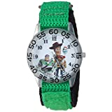 Disney Boys Toy Story 4 Analog-Quartz Watch with Nylon Strap, Green, 20 (Model: WDS000706) (Color: Green)