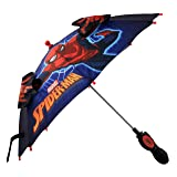 Marvel Little Boys Spiderman 'Squeeze and Flap' Fun Character Rainwear Umbrella, Ages 3-7 (Color: Blue, Tamaño: Age 3-7)