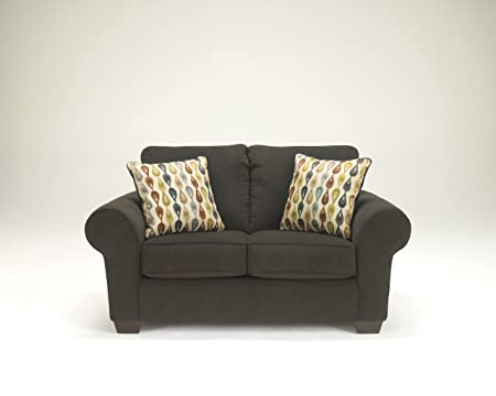 Deandre Contemporary Grey Fabric Loveseat