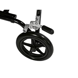 8 inch rear wheels with locking mechanism.