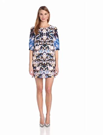 Twelfth Street by Cynthia Vincent Women's Short Sleeve Dress, Holiday Sequins, Small