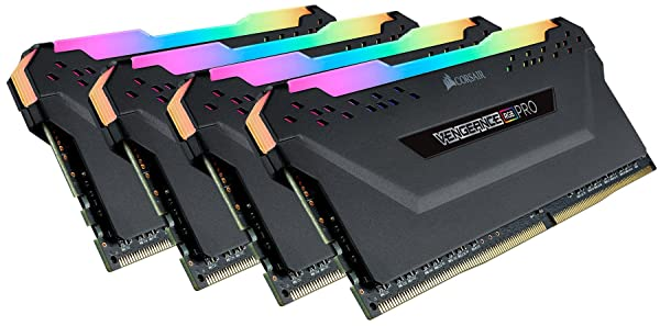 Corsair Vengeance RGB Pro 64GB (4x16GB) DDR4 3600MHz (PC4-28800) C18 Desktop Memory Black (CMW64GX4M4K3600C18) (Color: Black, Tamaño: 64 Gb)