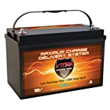 Vmaxtanks SLR125 AGM 12V 125ah Battery for Solar Wind Power Emergency Backup Generator PV panel or Charger AGM 12V VMAX Battery (12 Volt 125Ah Group 31 AGM Solar Battery) (Tamaño: Group 31)
