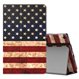 MoKo Case for All-New Amazon Fire HD 10 Tablet (7th Generation, 2017 Release) - Slim Folding Stand Cover with Auto Wake/Sleep for Fire HD 10.1 Inch Tablet, US Flag (Color: ZZ-US Flag, Tamaño: 10.1 Inch)