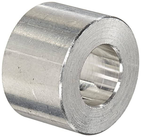 Round Spacer 0.192 ID 1//4 Length 10 Screw Size Pack of 10 Aluminum Plain Finish 1//2 OD