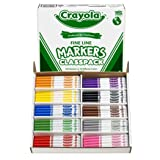 Crayola BIN8210 Non-Washable Classpack Markers, Fine Point, 10 Colors, Pack of 200 (Color: Brown, Tamaño: Pack of 1)