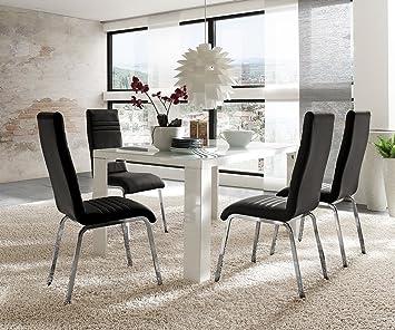 180 Weiss Mit 90 Stühlen Kunstleder X 4 Cm Hochglanz Esstisch sQCBtrdohx