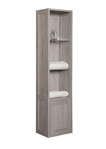 B&C Pensile porta oggetti per bagno con anta - Linea Urban Chic - Made in Italy