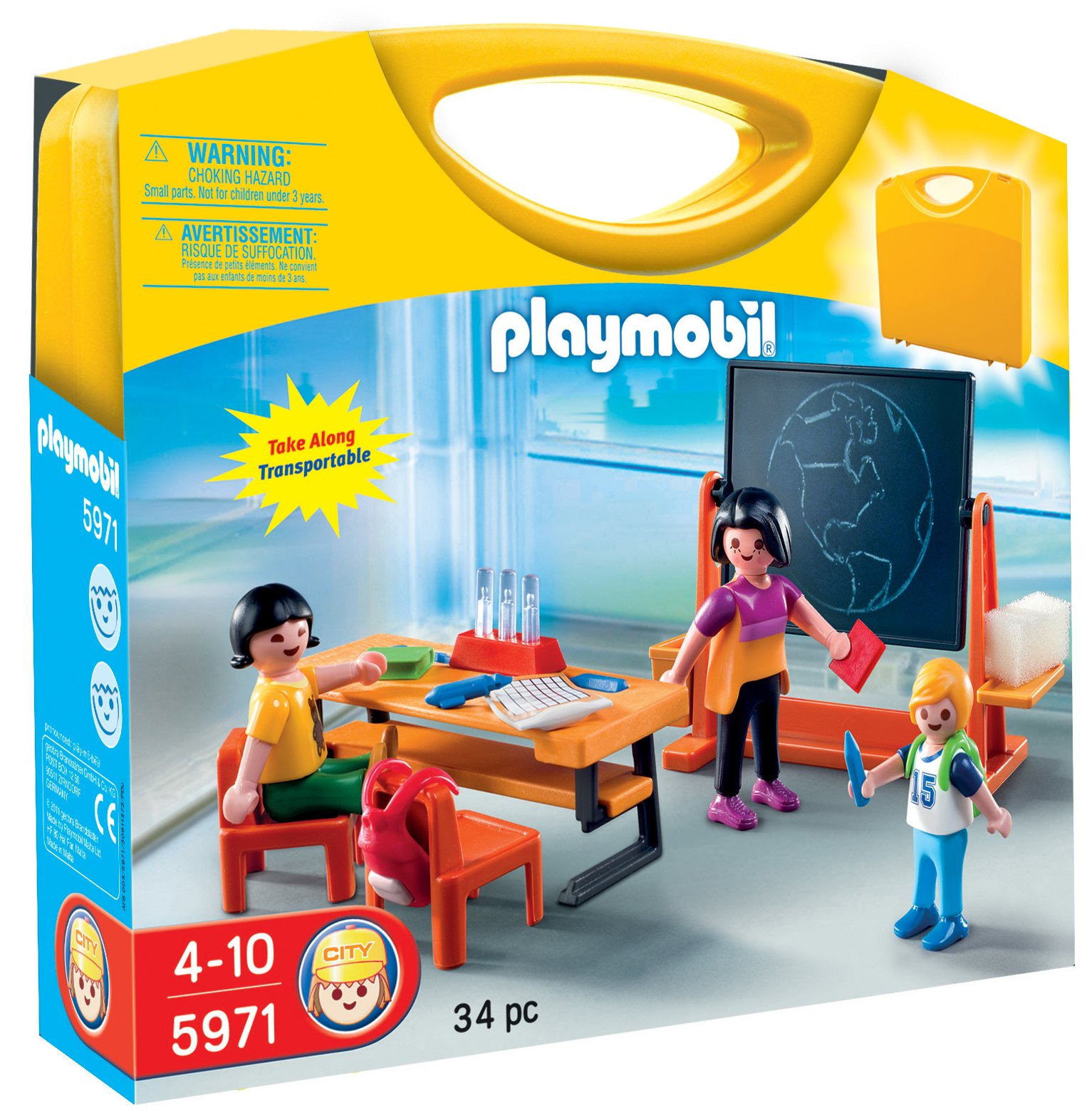 playmobil city life 5971 school carry case. Black Bedroom Furniture Sets. Home Design Ideas