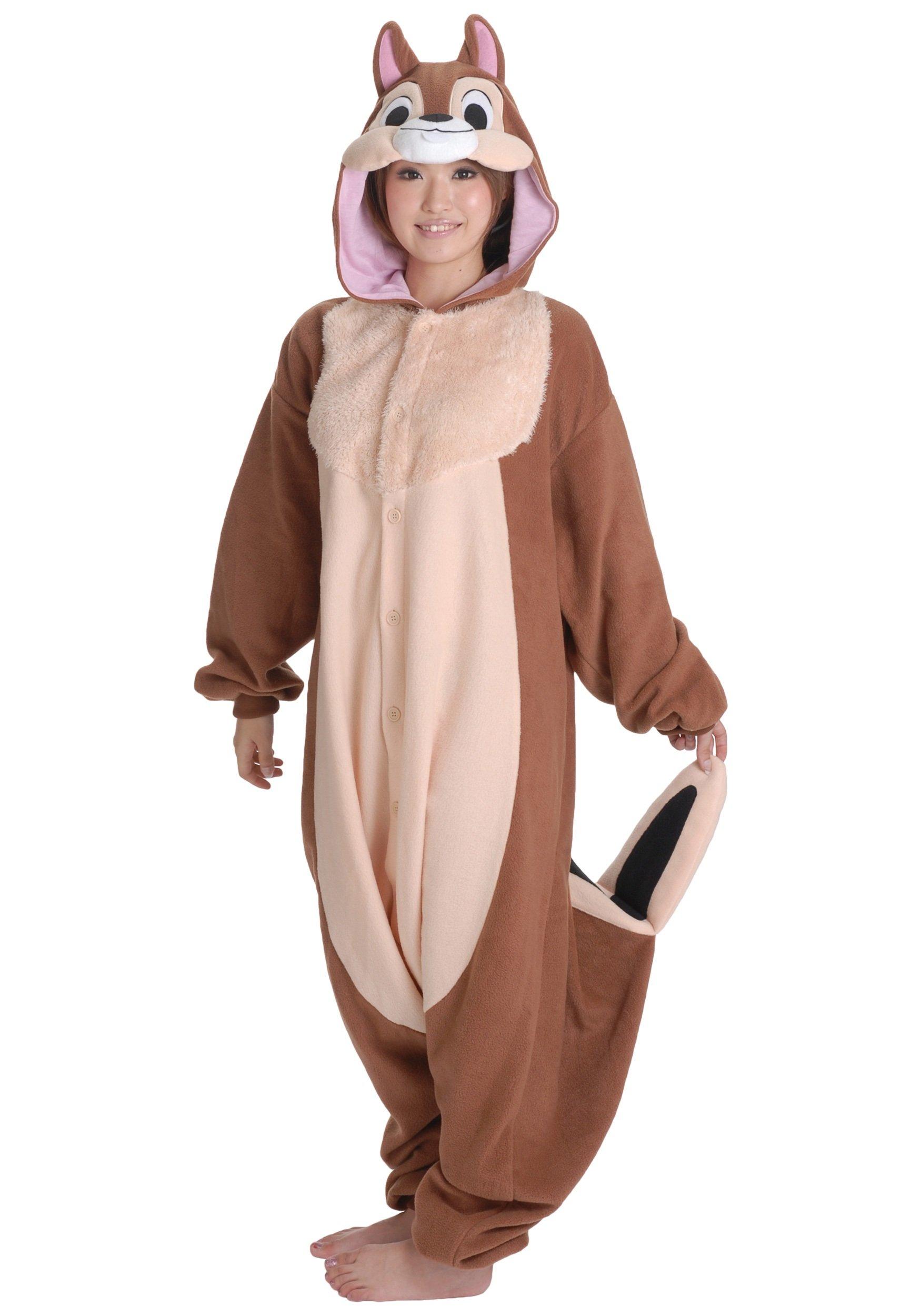 Chip Pajama Costume (Standard) Chipmunk Kigu