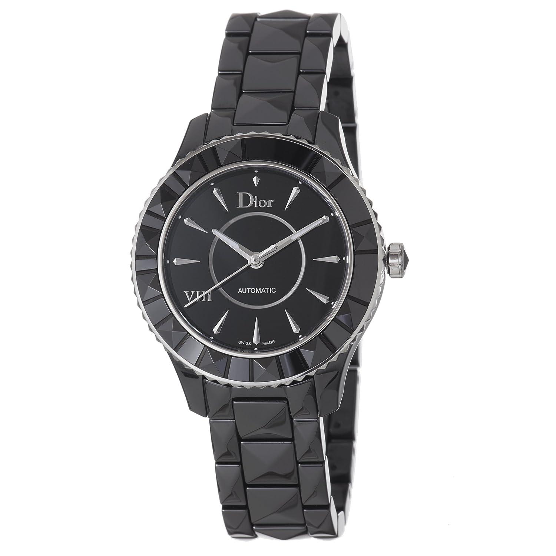 Christian dior women cd1245e0c001 black viii black dial automatic watch tiktik watches for Christian dior watches