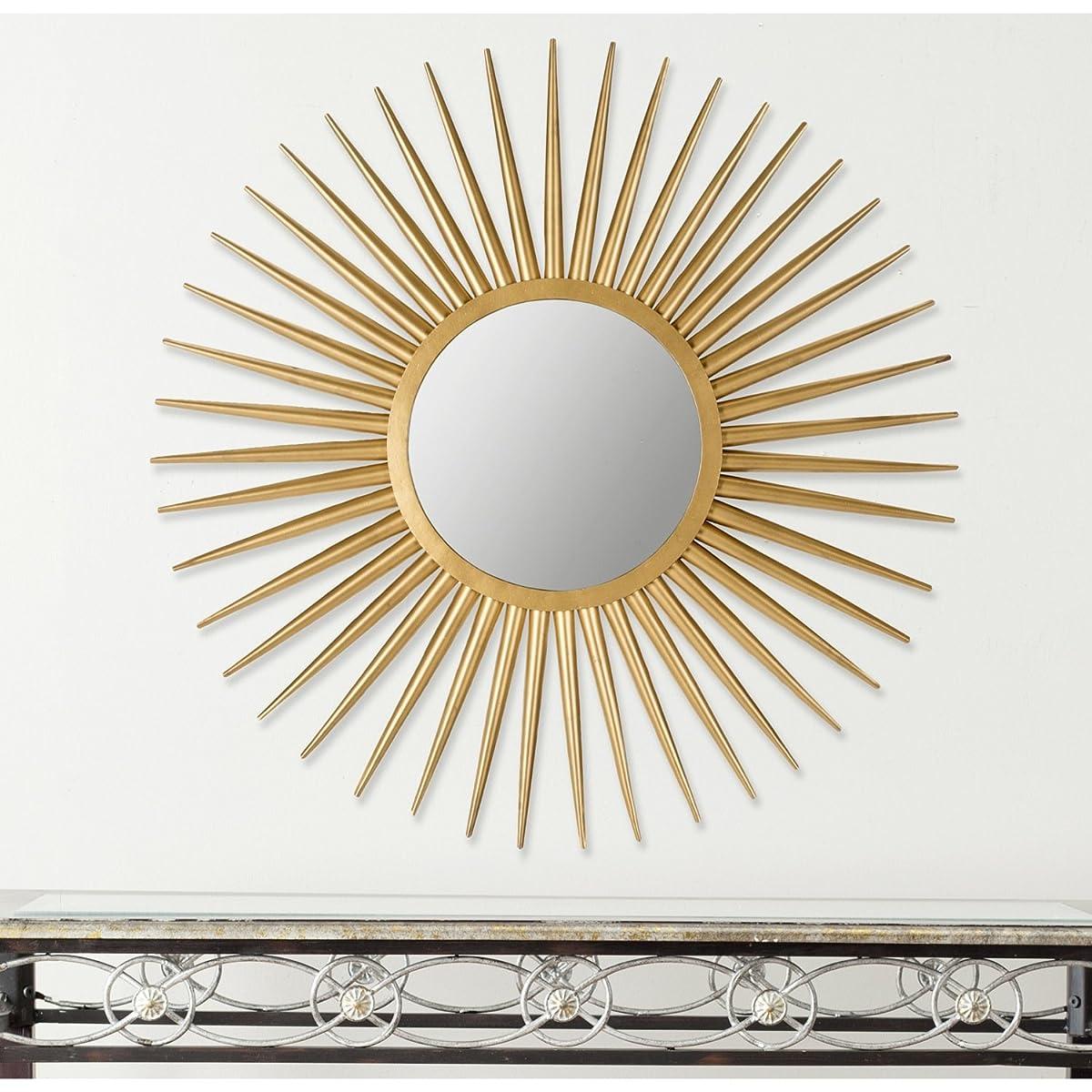 Safavieh Home Collection Sun Flair Mirror, Gold
