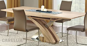 TABLE A MANGER DESIGN EXTENSIBLE 160÷220/90/75 CM - CHENE CLAIR
