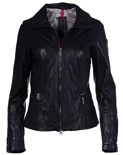 Attraktive hochwertige Lederjacke schwarz vom Lifestylelabel Milestone!