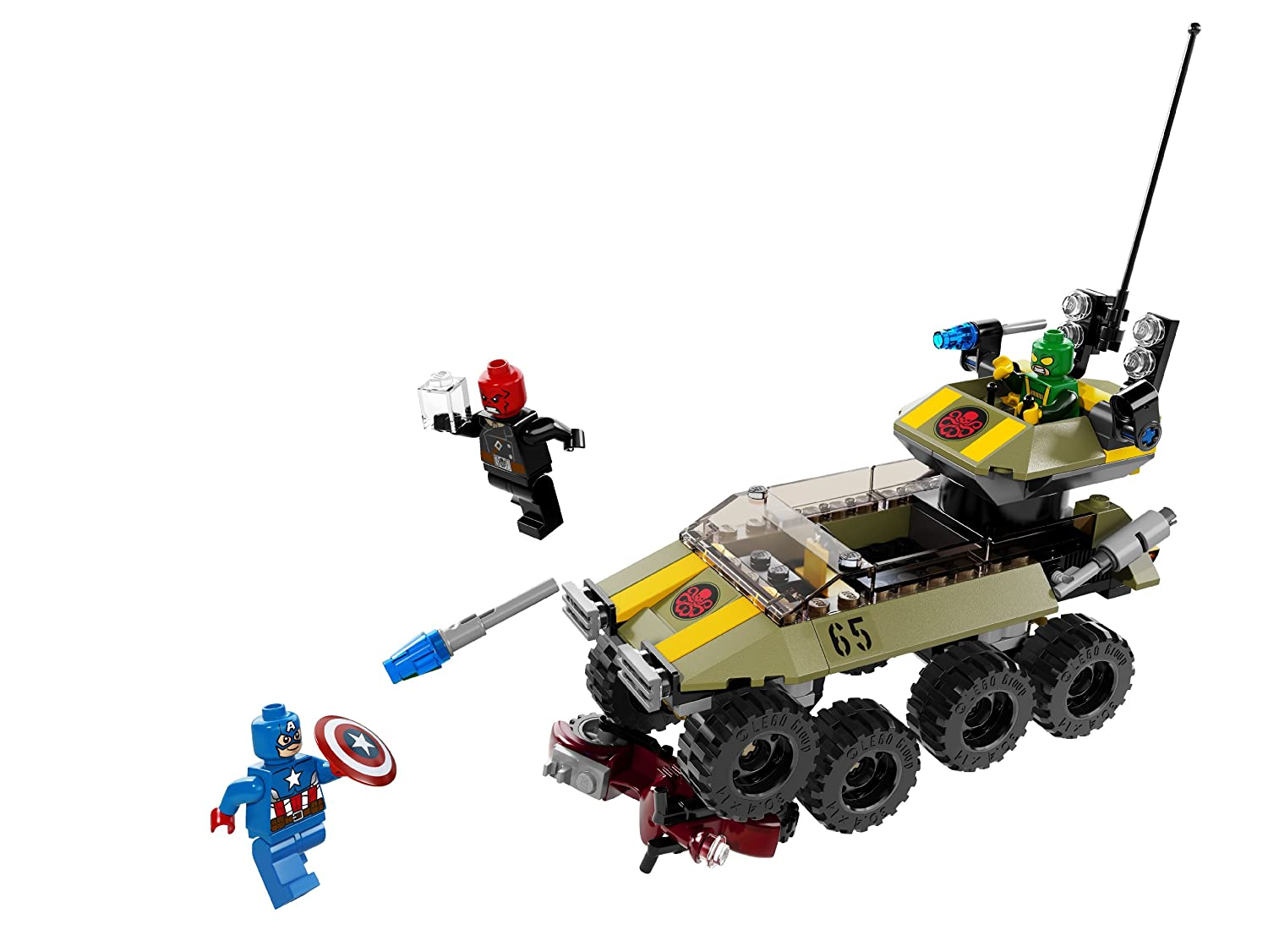 Lego superheroes 76017 captain america vs hydra new free shipping 658109694424 ebay - Lego capitaine america ...