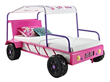 Powell Girls Buggy Twin Bed & Dresser