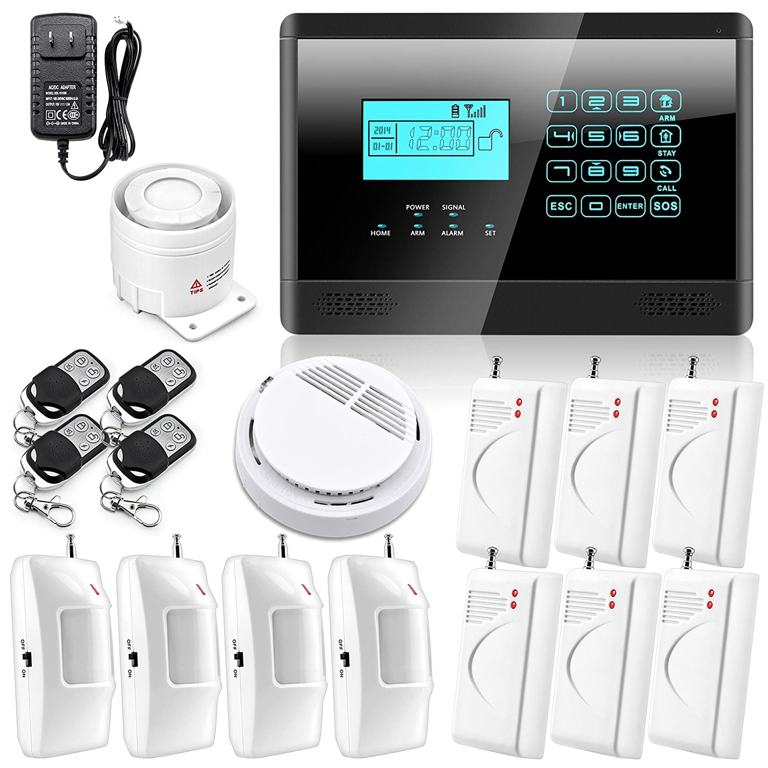 Wolf-Guard DIY Touch Keypad Wireless GSM SMS Autodial Smart Home Security
