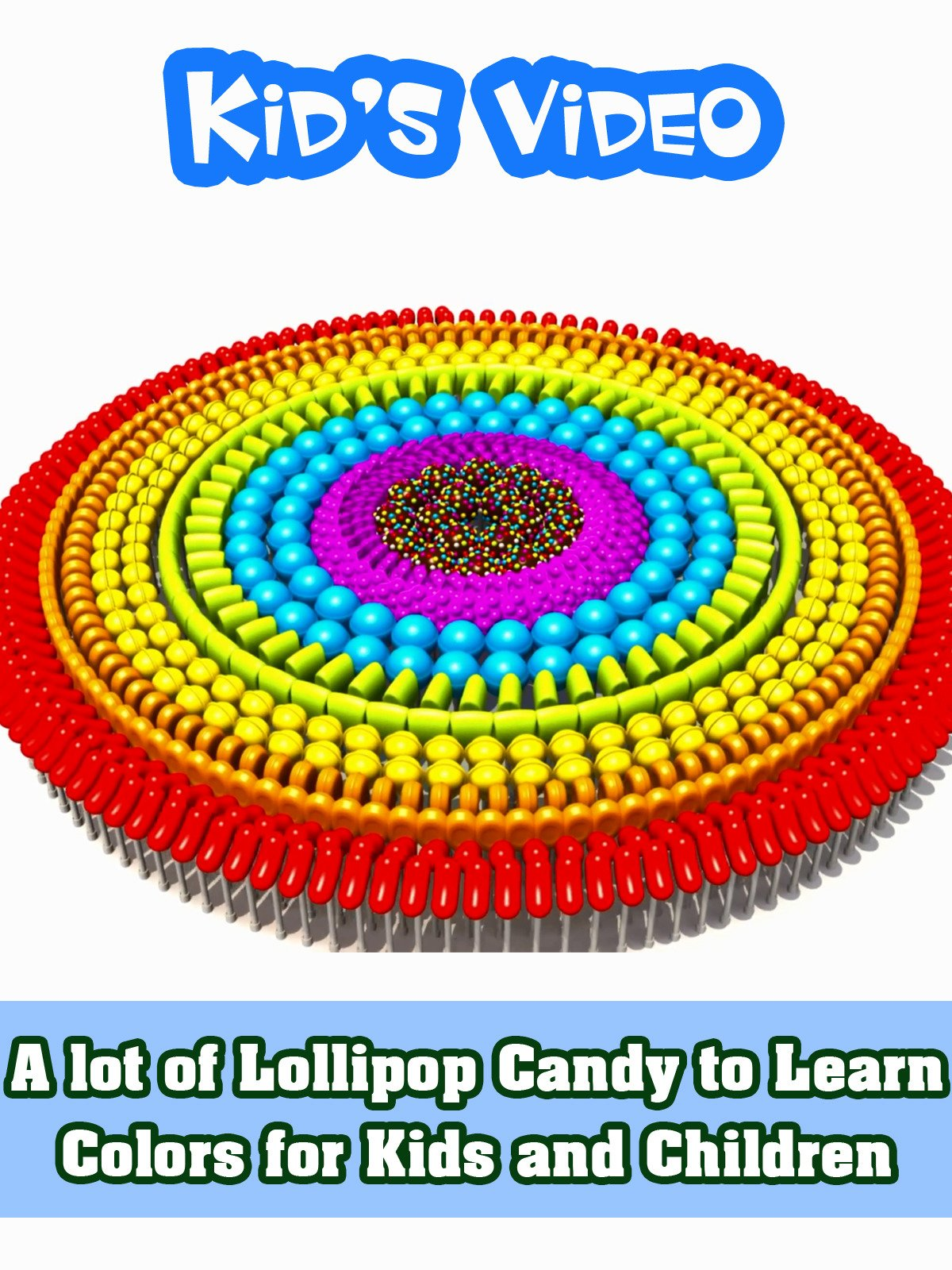 A lot of Lollipop Candy to Learn Colors for Kids and Children