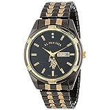 U.S. Polo Assn. Classic Men's USC80047 Two-Tone Watch Black-Dial Watch (Color: Black)