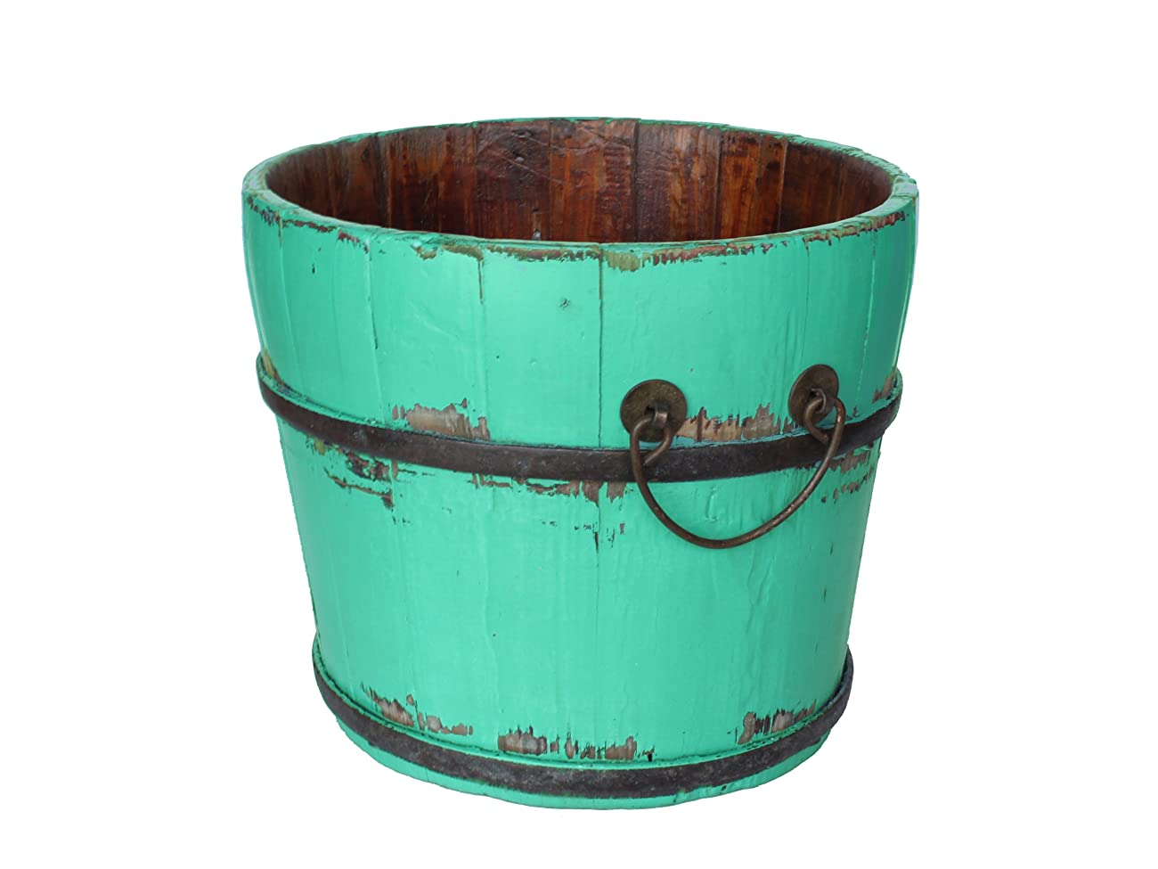 Antique Revival Vintage Chatwell Bucket, Turquoise 0