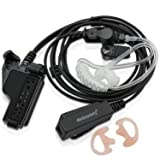 abcGoodefg FBI Two Way Radio Headsets Earpiece PTT MIC with Earmold Earbud for Motorola Walkie Talkie MT1500 MT2000 XTS2500 MT6000 MTX-LS MTX1000 PR1500 XTS3000 GP900 GP1200 JT1000 XTS1500 XTS3500 (Color: Tube Earpiece Headset)