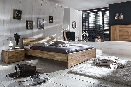 SAM® Massivholzbett Sava Bett aus Wildeiche geölt 140 x 200 cm