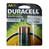 Duracell Rechargeable AA Batteries 16 Count (Packs of 2) (Color: 16 Count (8 Packs of 2), Tamaño: AA)