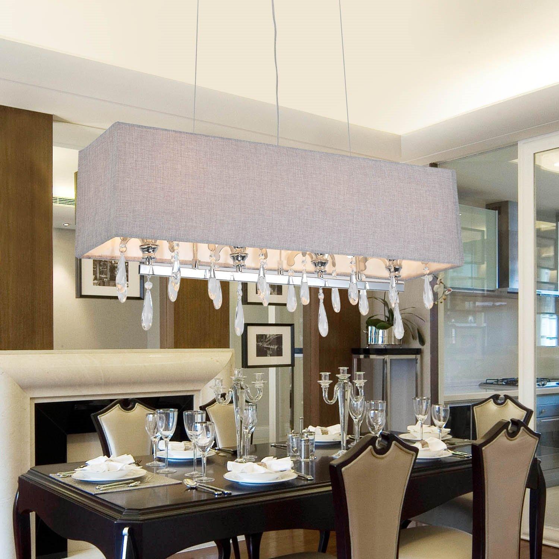 OOFAY LIGHT® Das elegante hochwertige Kristallglas Kristallleuchterlampe 4 Schlafzimmer Wohnzimmer Kristall-Kronleuchter Kristall-Kronleuchter Restaurant