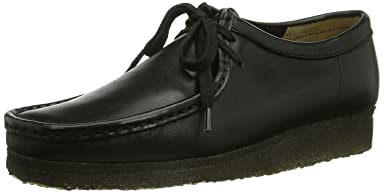 Wallabee: Black Smooth Leather