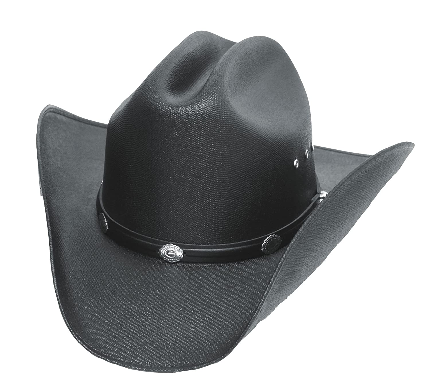 Straw Cowboy Hat Black Cattleman Straw Cowboy Hat