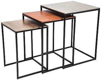 KARE Design cuadrado Loft mesa auxiliar, marrón