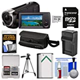 Sony Handycam HDR-CX405 1080p HD Video Camera Camcorder with 32GB Card + Case + Battery & Charger + Tripod + Kit (Color: Black)