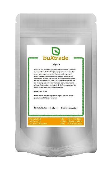 L-Lysin Pulver - Aminosäure Lysin HCL Lysine 100% rein VERSCHIEDENE GRÖßEN