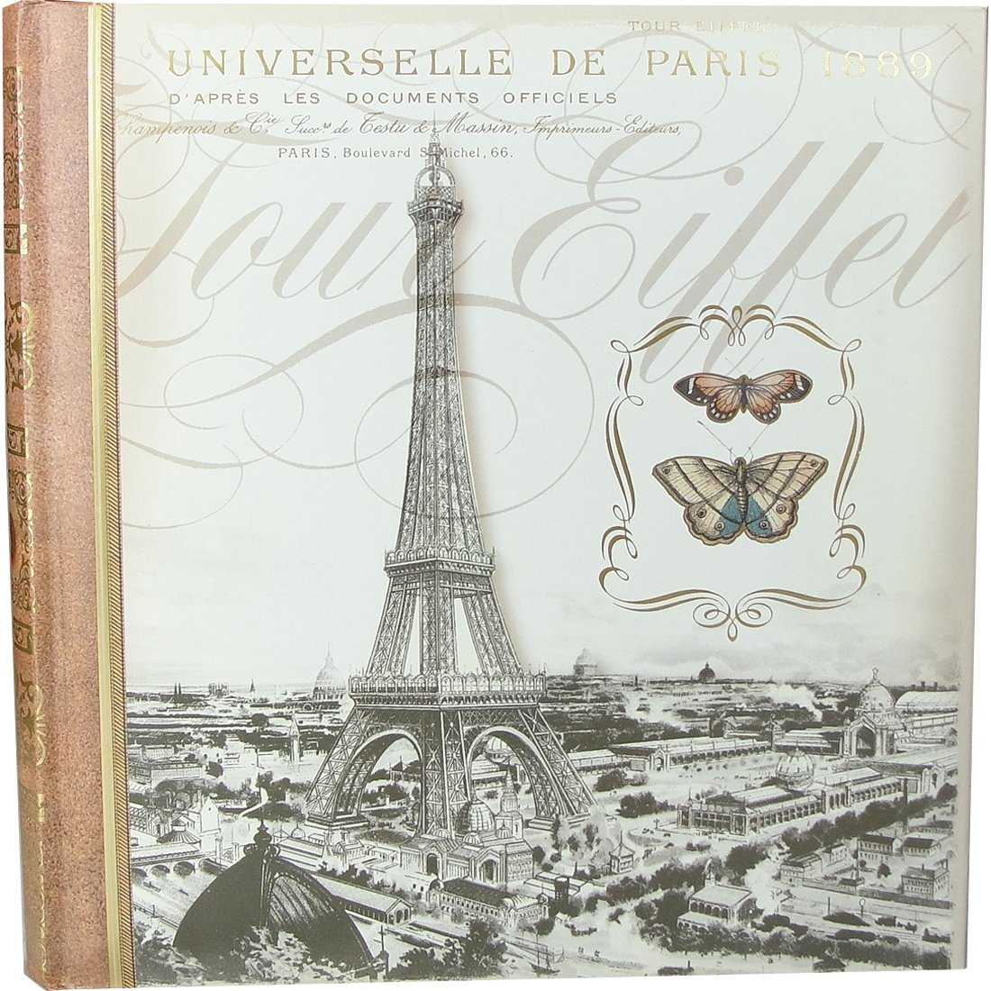 Punch Studio Eiffel Tower Paris Decorative Photo Album allenjoy backdrops for photo thin vinyl paris tower hot air balloon bike background photography photocall camera