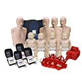 CPR Adult Manikin 4-Pack w. Feedback, Infant Manikin 4-Pack w. Feedback, AED UltraTrainers, and MCR Accessories