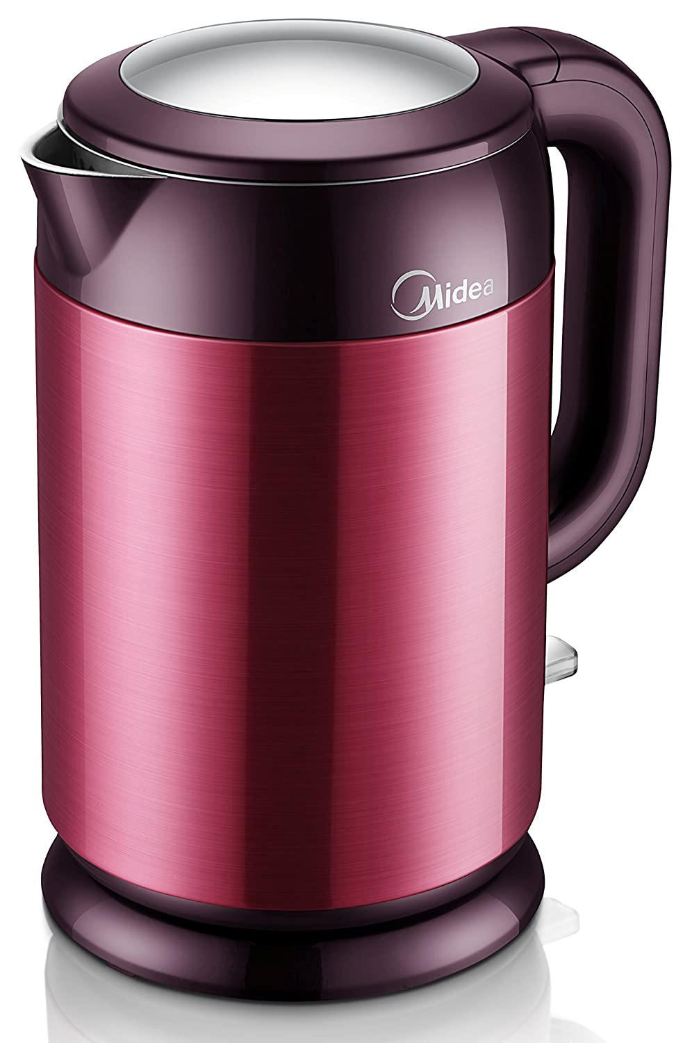 MIDEA GreenLiving 1.7 Liter (1.8 Quart) Cordless Electric Water Kettle. Stainless Steel. Double Wall Cool Touch Exterior. UL certification. Model MK-H317E1B