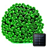 VMANOO Solar Christmas Lights, 72ft 22m 200 LED 8 Modes Solar String Lights for Outdoor, Indoor, Gardens, Homes, Party, Wedding, Halloween Decorations, Waterproof (Green) (Color: Green)