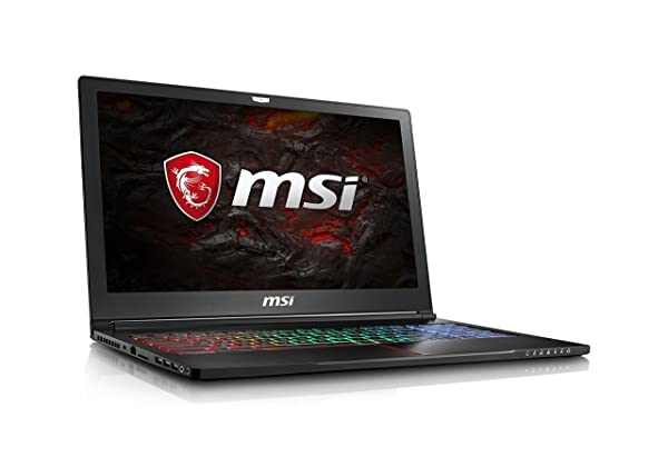 MSI GS63VR Stealth Pro-230 15.6 Ultra Thin and Light Gaming Laptop Intel Core i7-7700HQ GTX 1060 16GB 256GB NVMe SSD + 2TB VR Ready - Metal Chassis (Color: Black/Red, Tamaño: 15.6 Inch)