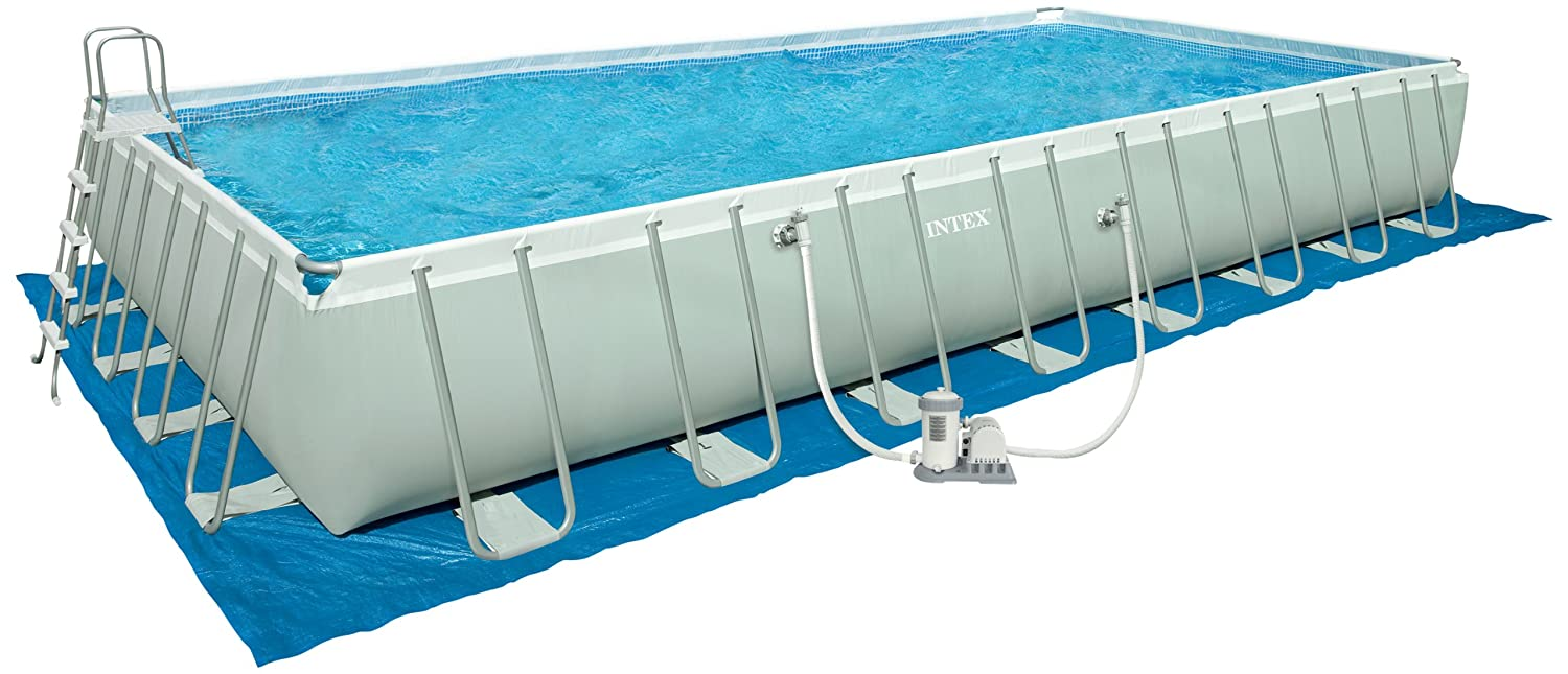 intex 32 ft by 16 ft by 52 in rectangular ultra frame pool