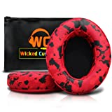 Upgraded Replacement Ear Pads for Audio Technica ATH M50X - Also Compatible with M50 / M40X / M40 / Sony Mdr/Monoprice 8328 and Many More Oval Shaped Headphones (Red Camo) (Color: Red Camo)