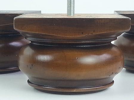 4 x patas de madera de acero para muebles de repuesto 70 mm Altura para sofás, sillas, taburetes M10 (10 mm)